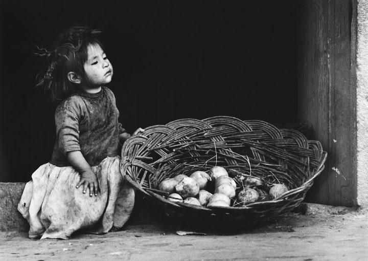 Flickan med korgen