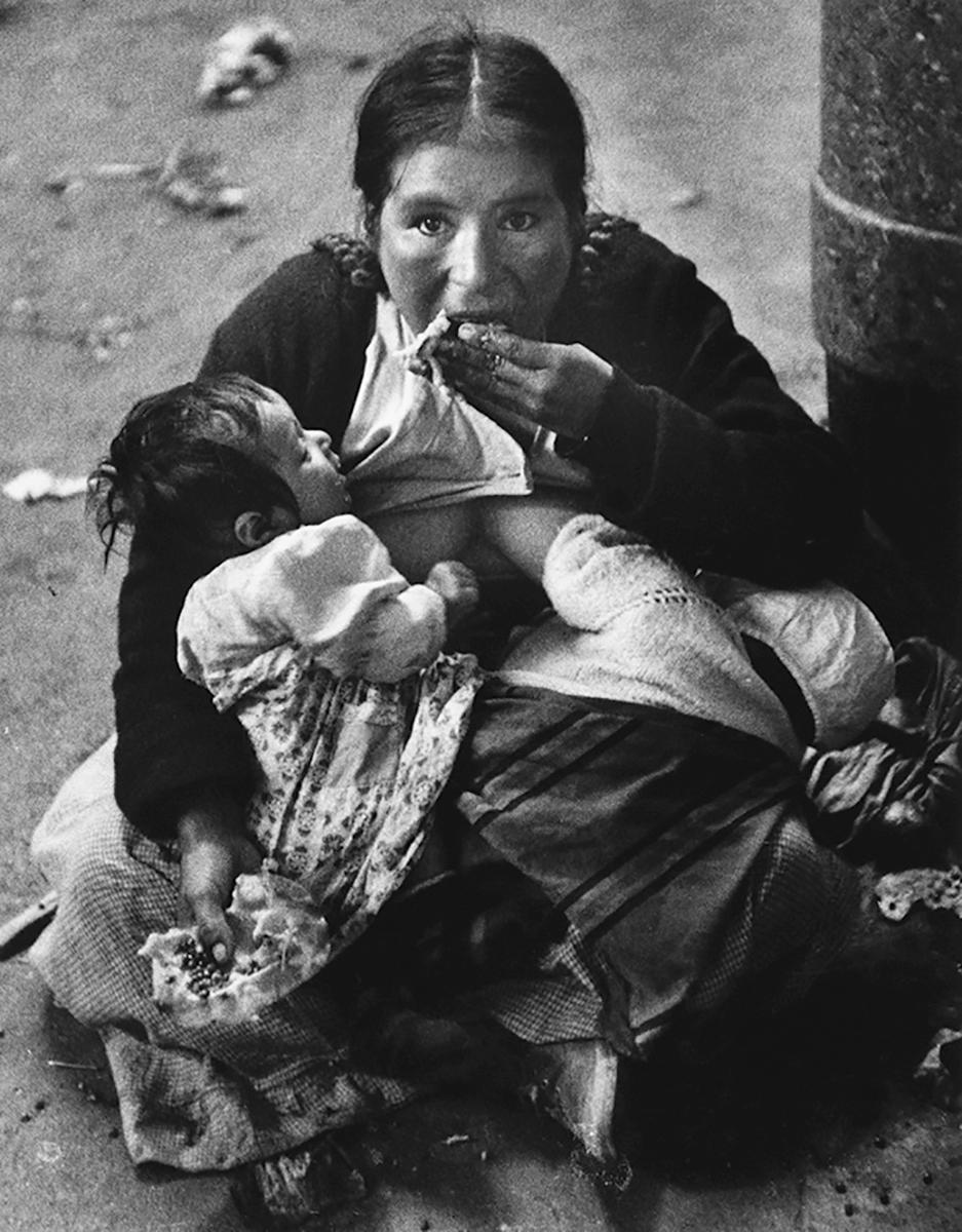 Kvinna med två barn